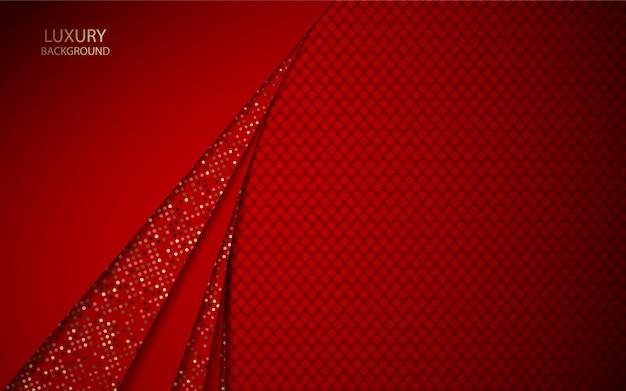 光る要素装飾と抽象的な赤い重複背景