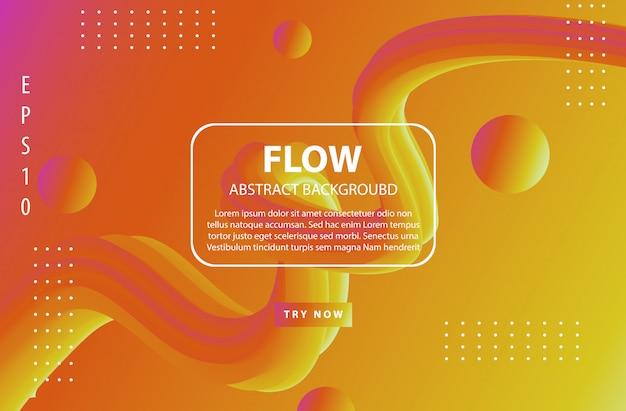 抽象的な流体形状のトレンディな背景のグラデーションカラー