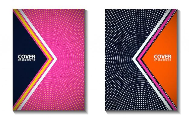 Современный набор фона обложки