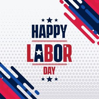 アメリカの幸せな労働日フラットスタイル