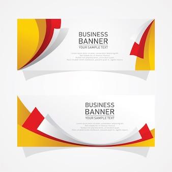 抽象的なベクトルビジネスバナーデザイン