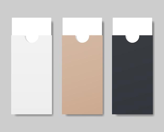 ホワイトペーパーのモックアップと封筒のセット。