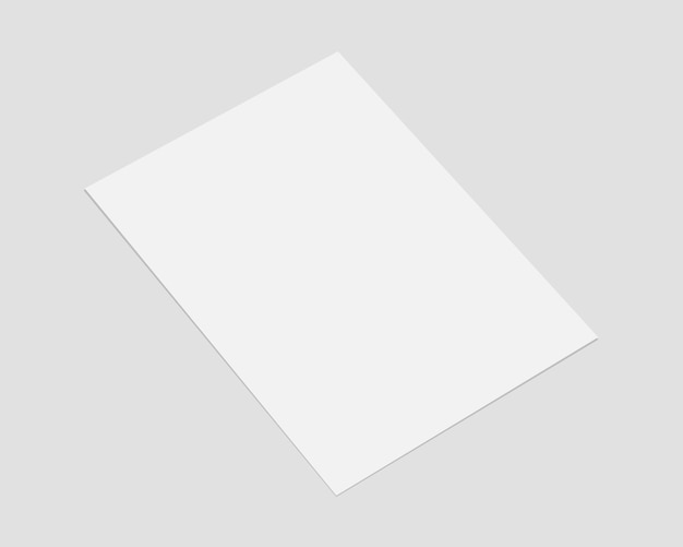 ソフトシャドウの空白のホワイトペーパー。紙モックアップベクトル。リアルな