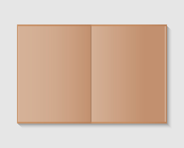 Открыт пустой журнал или макет книги. страница журнала распространения макета. макет изолированы. шаблон дизайна.