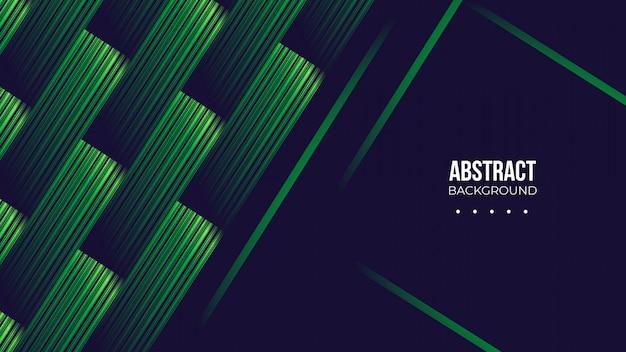 暗い背景と抽象的な緑の形