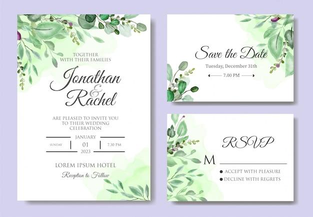 Красивое свадебное приглашение