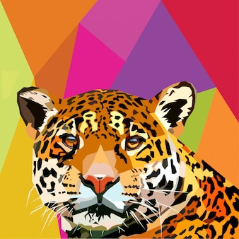 Леопард поп-арт вектор