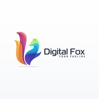 Высокий логотип лиса