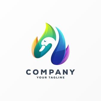 Высокий гусь логотип дизайн вектор