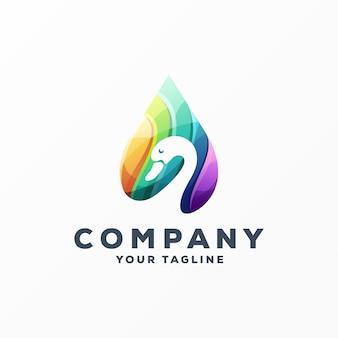 素晴らしいガチョウのロゴデザインベクトル