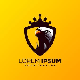 Высокий орел логотип дизайн вектор
