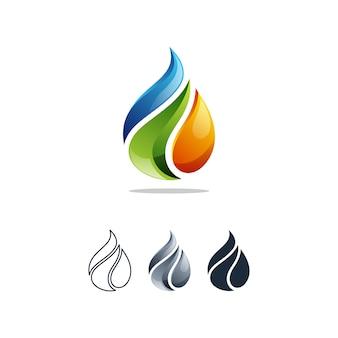 石油ガスのロゴ