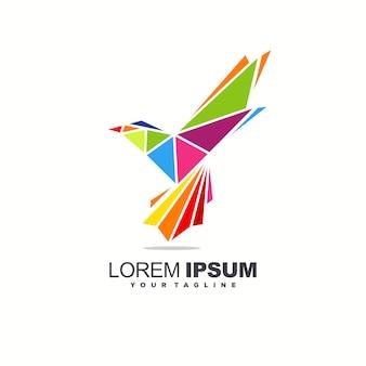 素晴らしい鳥のロゴデザイン