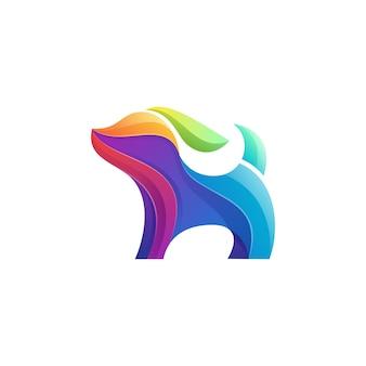 Пиксель логотип собаки
