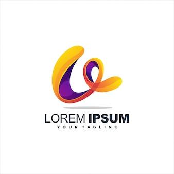 Высокий градиент абстрактный логотип