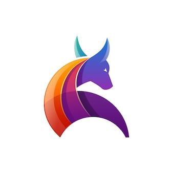 Бык логотип вектор