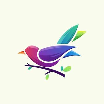 Птица логотип вектор