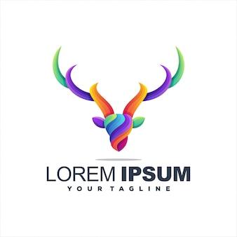 Высокий логотип оленей градиент