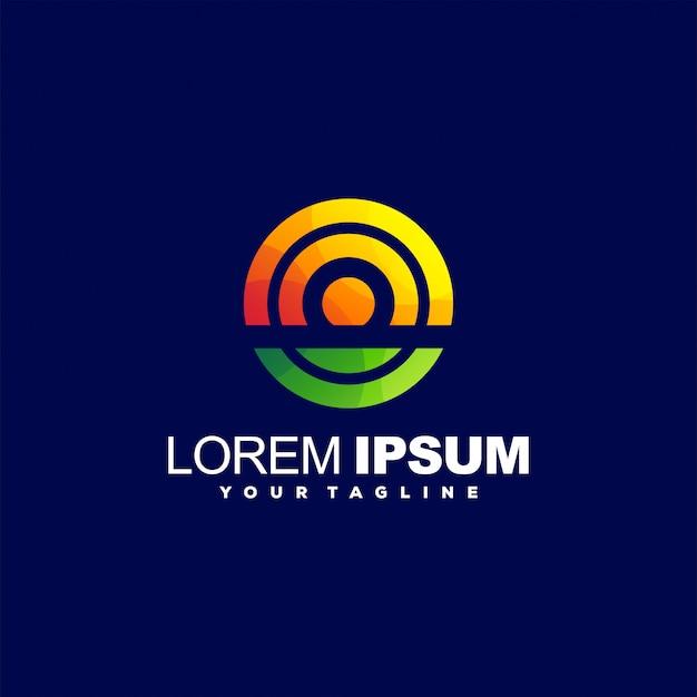 Потрясающий логотип с градиентом круга
