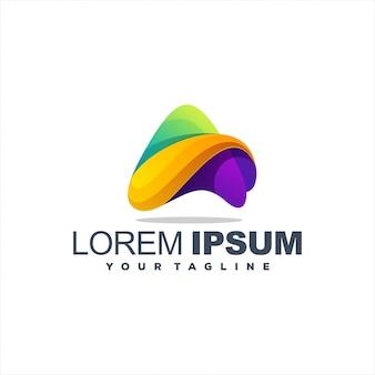 Удивительный градиент абстрактный дизайн логотипа