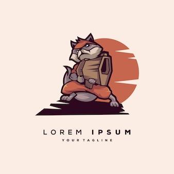 アライグマのロゴのベクトル