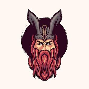 Викинг логотип вектор