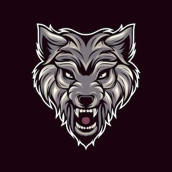オオカミのロゴのベクトル