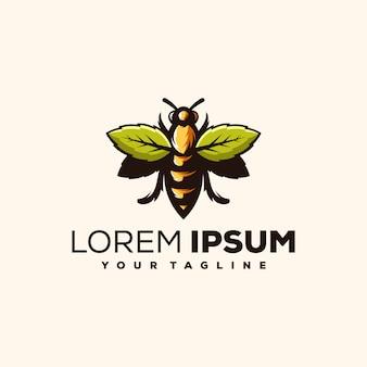 Пчела логотип вектор