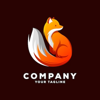 Удивительный фокс логотип вектор