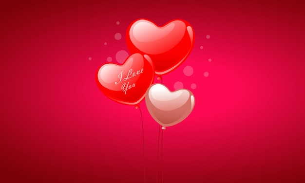バレンタインデーハート風船