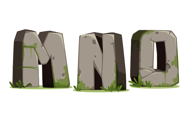 石のアルファベット