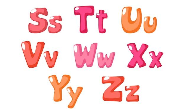 子供のためのピンク色のかわいい太字フォント