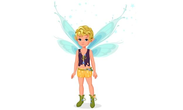 かわいい妖精の小さな男の子