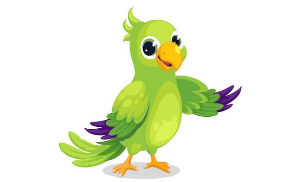 Попугай мультяшный векторная иллюстрация