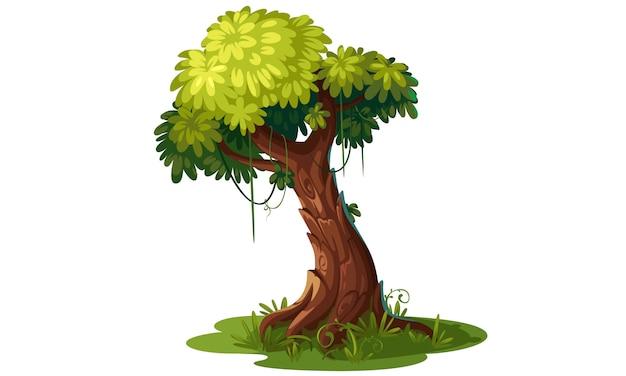 美しい木のベクトル図