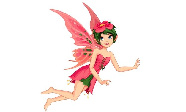 Красивая цветочная фея