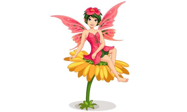美しい花の妖精
