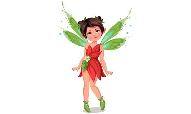 Милая маленькая фея в позе стоя