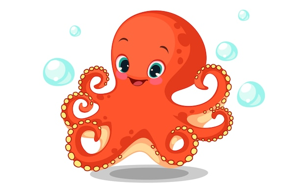 Милый мультфильм осьминог