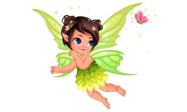 美しい小さな自然の妖精