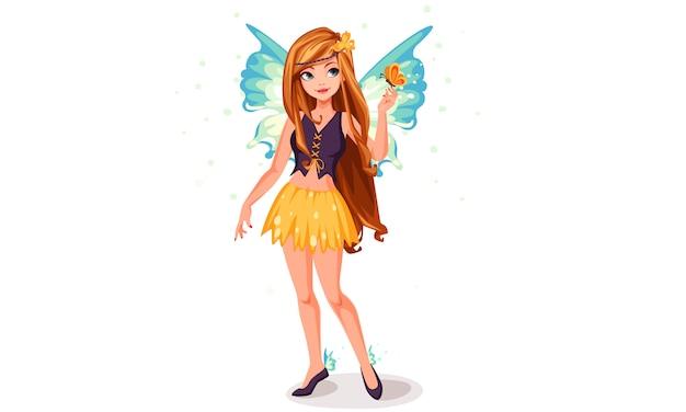青い翼の妖精