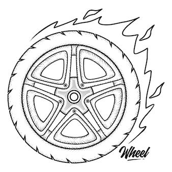 Винтажное колесо