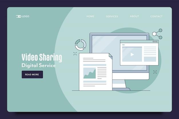 Веб-шаблон для обмена видео