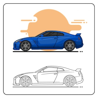 ブルースポーツカー
