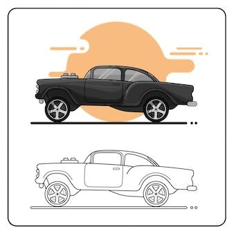Ретро модифицированный автомобиль легкий