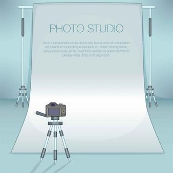 Фотостудия концепция, мультяшный стиль