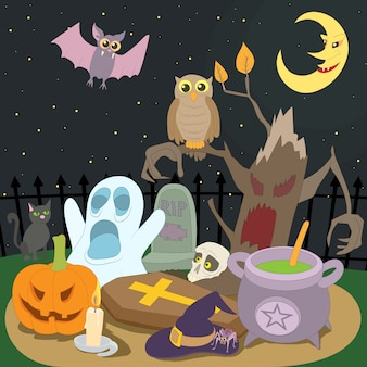 Счастливая концепция хэллоуина