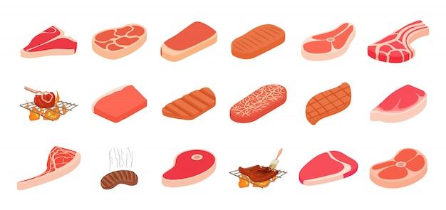 ステーキのアイコンセット