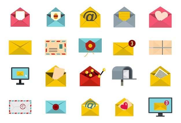 文字アイコンを設定します。分離された手紙ベクトルアイコンコレクションのフラットセット