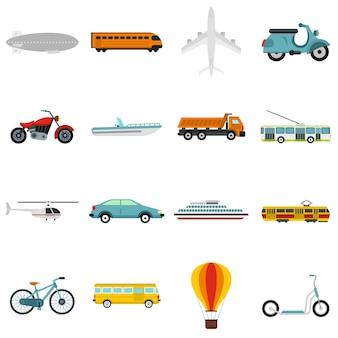 Набор значков транспорта